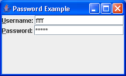 PasswordField Sample 2