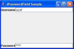 Password Field Sample