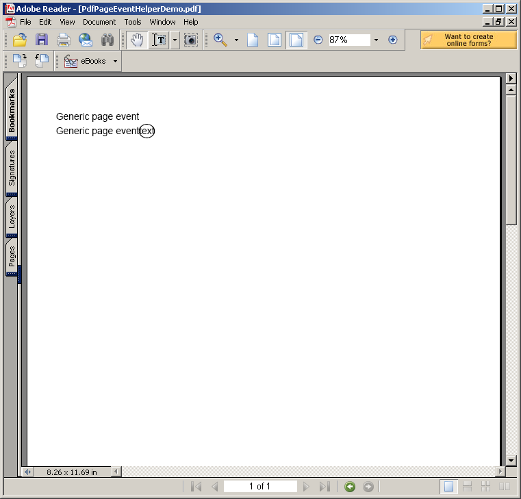 Using Pdf event to build the Pdf document