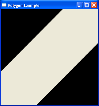 Demonstrates drawing polygons
