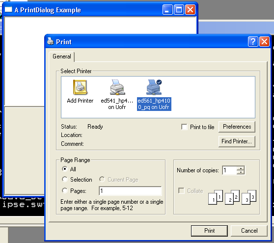 Print Dialog Example