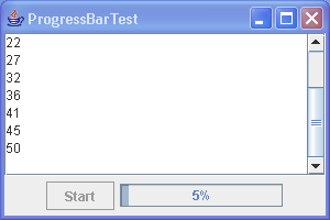 This program demonstrates the use of a progress bar to monitor the progress of a thread.