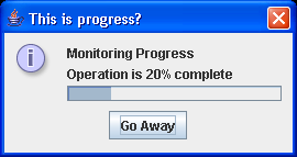 A demonstration of the ProgressMonitor toolbar