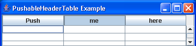 Pushable Table Header Example