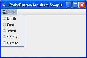 RadioButton Menu Sample