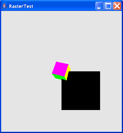 Render a view of the depth components as a dynamic raster