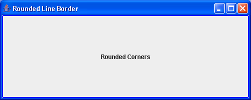A simple demonstration of the LineBorder class built with rounded corners