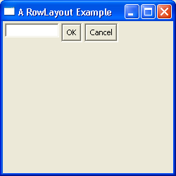 RowLayout Example