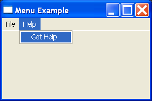 SWT Menu Example