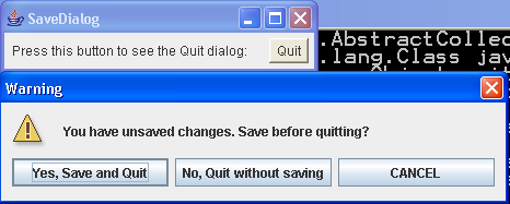 Simple Save Dialog demo