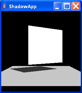 ShadowApp creates a single plane