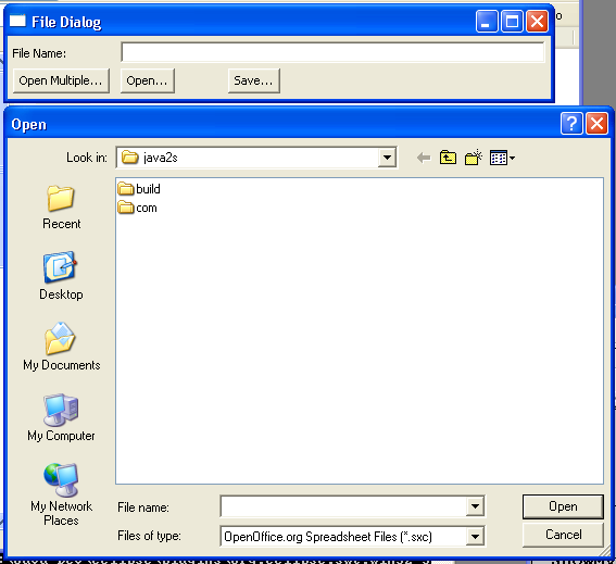 Demonstrates FileDialog