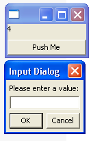 Demonstrates the custom InputDialog class