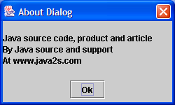 Create simple about dialog