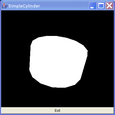 This creates a simple cylinder by using the Cylinder utility class