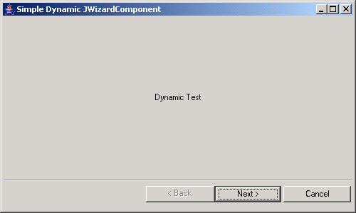 Simple Dynamic Wizard