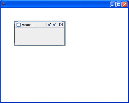 A quick setting up an Internal Frame in an application