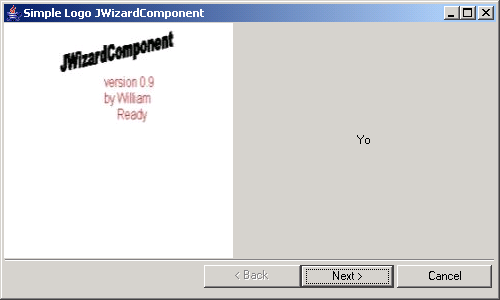 Wizard Dialog with Logo