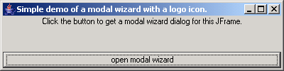 Simple Modal Logo Wizard