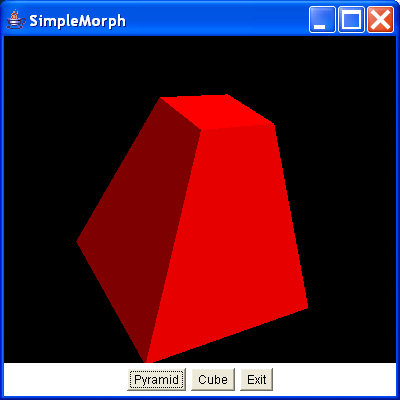 A Morph object to animate a shape between two key shapes