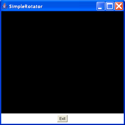 This creates a rotation interpolator and applies it to a shape