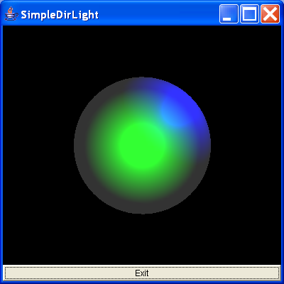 This builds a red sphere using the Sphere utility class and adds lights