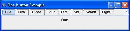 Single Row Tabbed Pane Example 1