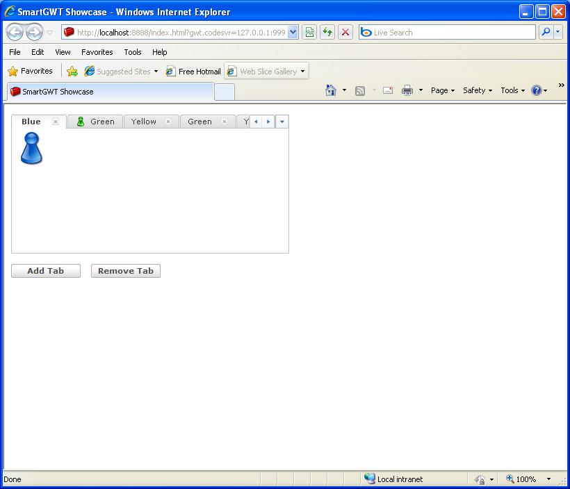 Add a tab, remove a tab (Smart GWT)
