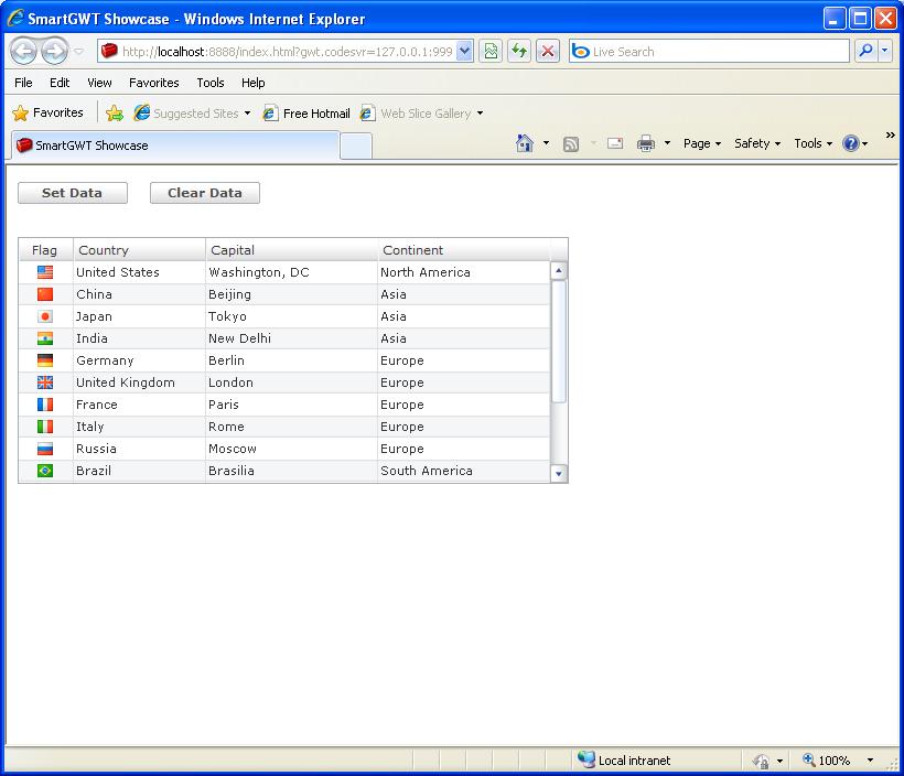 Add to / clear ListGrid (Smart GWT)
