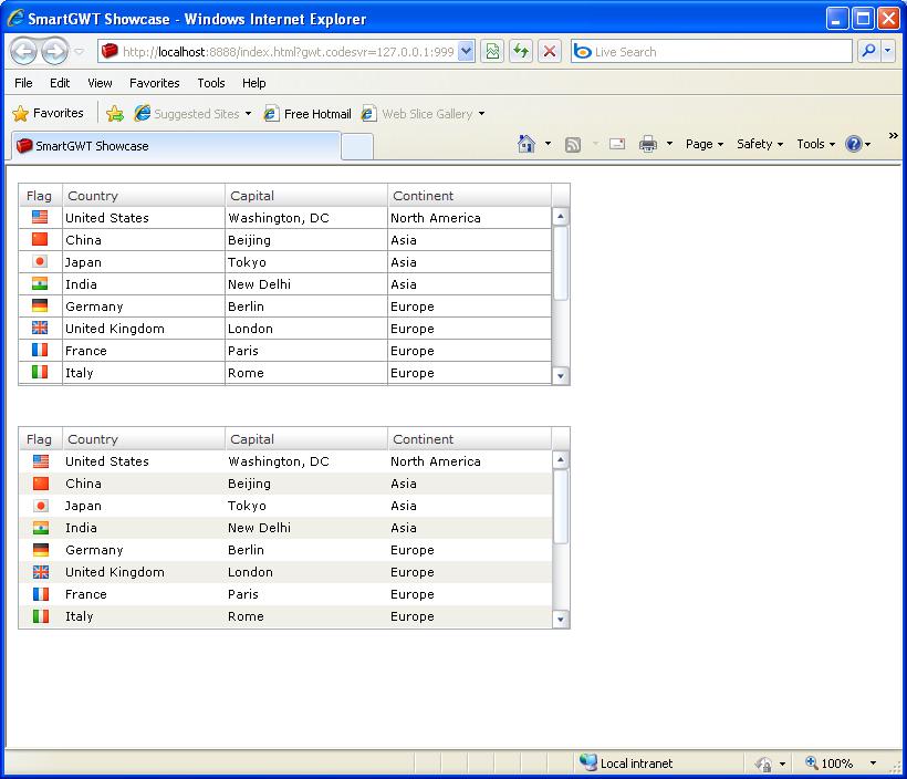 extends ListGrid (Smart GWT)