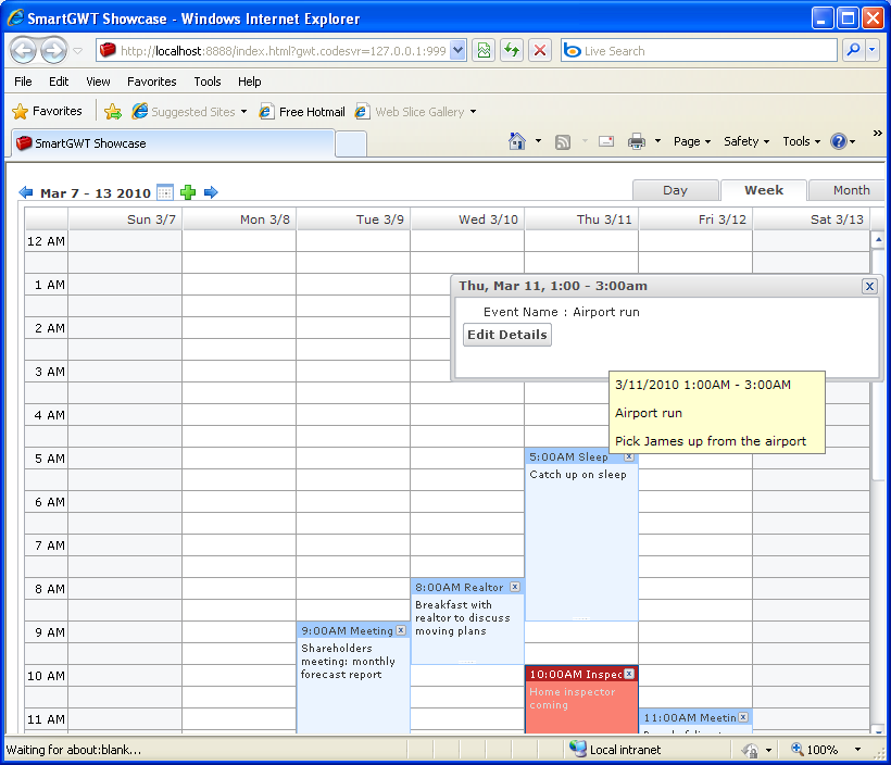 Simple event calendar (Smart GWT)