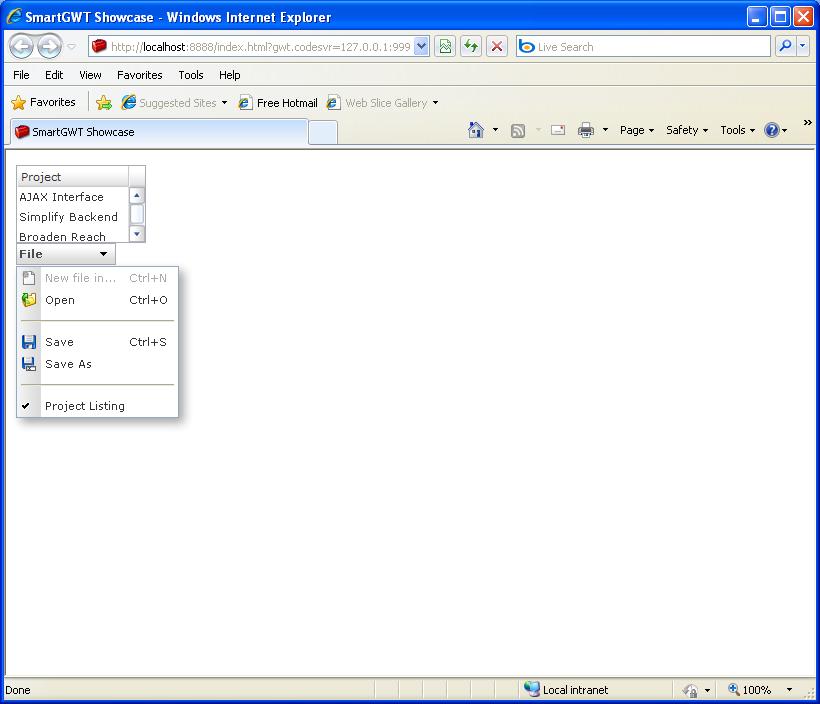 Single column ListGrid (Smart GWT)