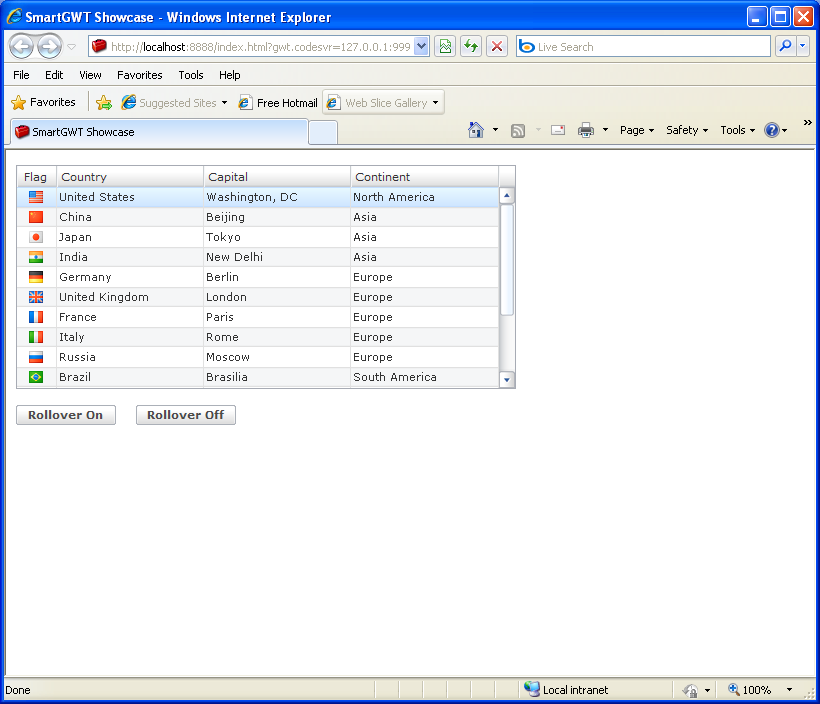 Table autofit filter sample smart gwt table gwt java for Hover tr table