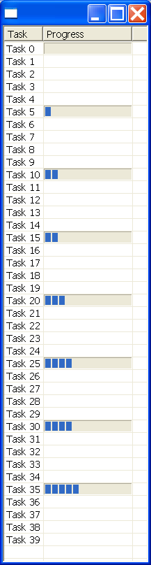 Place a progress bar in a SWT table