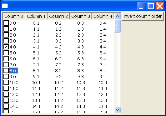 Reorder columns and reorder columns programmatically