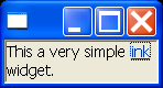 Create a link widget