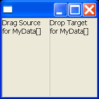 Drag and Drop example snippet: define my own data transfer type