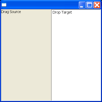 Drag and Drop example snippet: define a default operation (in this example, Copy)