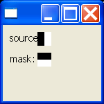 Cursor: create a cursor from a source and a mask