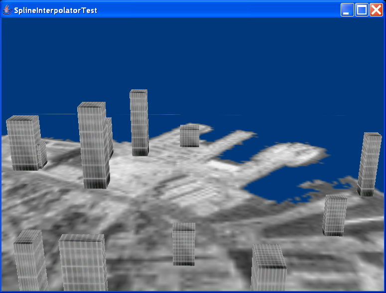 This example creates a 3D fly-over of the city of Boston