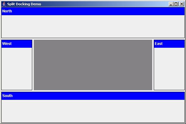 SplitPane and dockable component