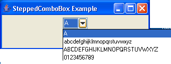 Stepped ComboBox Example