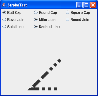 This program demonstrates different stroke types.
