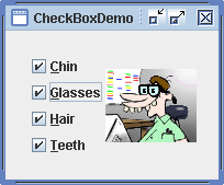 Swing CheckBox Demo
