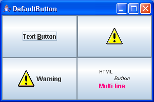 Swing Default Button
