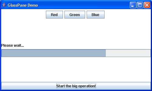 Demonstrate use of GlassPane : GlassPane « Swing JFC « Java