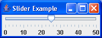 An example of JSlider with default labels