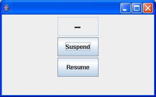 visual suspend and resume thread status threads java