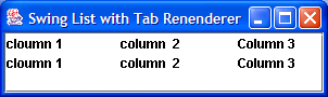 Tab list renderer