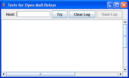 TestOpenMailRelay -- send self-returning SPAM to check for relay sites